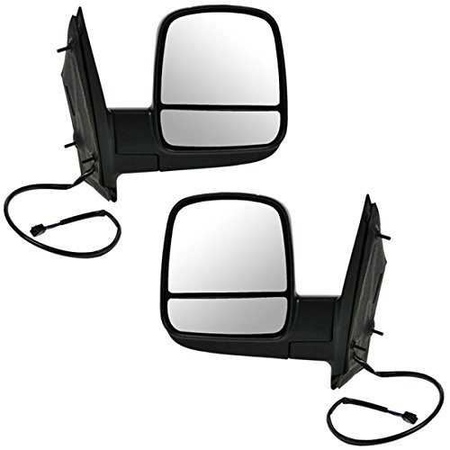 08-14 Chevy Express Van Power Heat Black Folding Mirror Left Right Side SET PAIR free shipping