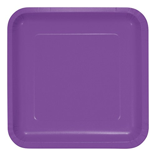 Creative Converting 318925 Amethyst Square Dinner Plate, 9