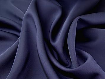 Plain Polyester Spandex Stretch Neopren Kleid Stoff Marineblau