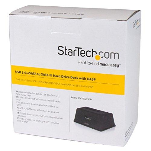 StarTech eSATA/USB 3.0 Hard Drive Docking Station Black SDOCKU33EBV