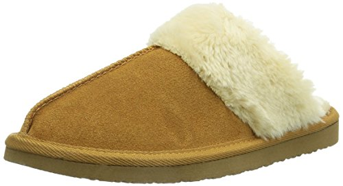 Minnetonka Women's Chesney Scuff Flat,Cinnamon,8 M US