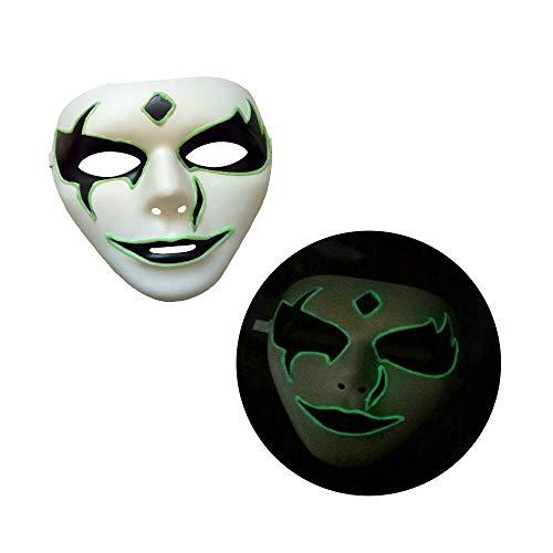 Cywulin Halloween Party Scary Props Luminous Skeleton Skull Mask Full Face Light Up Horror Cosplay Costume for Men Women Kids (D) ()