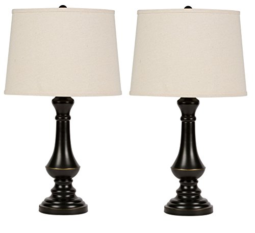 Virtue Home Cambridge 25 Table Lamp Set – 2 Pack