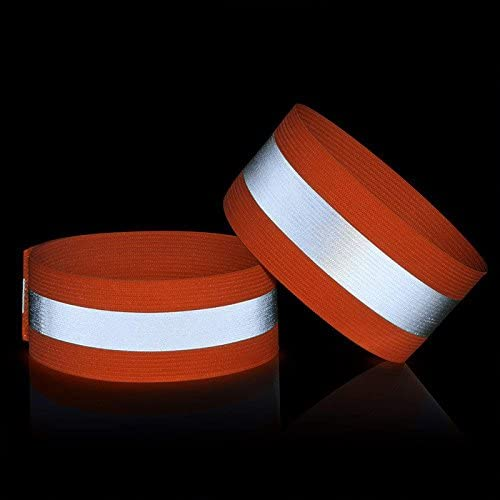 Tofree r/éfl/échissant Brassard pour Nuit Course /à Pied Sports de Plein air Fluorescent Bracelet Orange