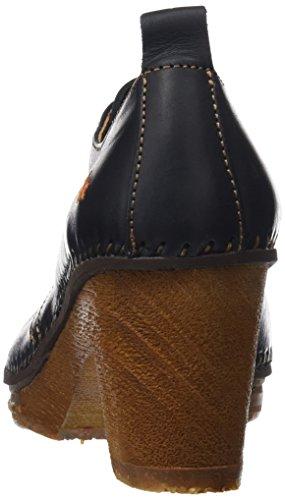 Mujer Rustic Art con para Tacón Black Punta Black de Zapatos Negro Cerrada TB84q