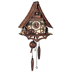 Quartz Black Forest House Cuckoo Clock in Antique Finish