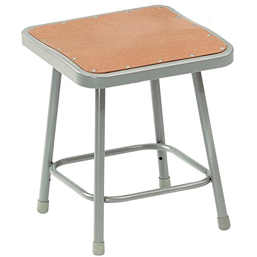National Public Seating 6318 Steel Stool With 18 Quot Square