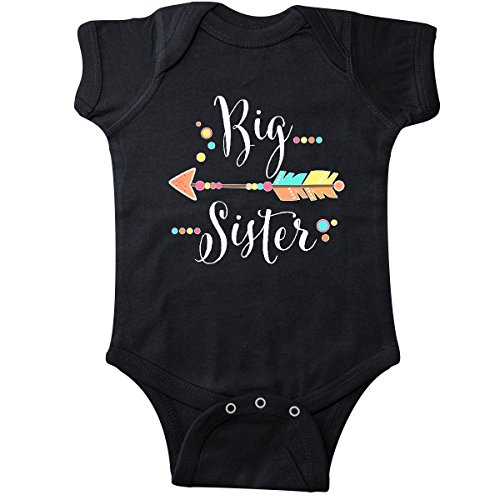 inktastic - Big Sister- dots and Arrow Infant Creeper 24 Months Black 2fa2e