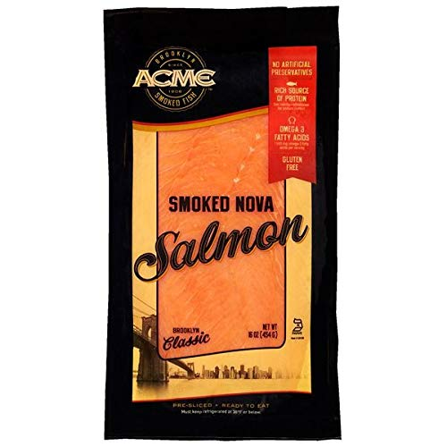 (Acme Expect More Smoked Fish Co. Smoked Nova Salmon Pre-Sliced Ready To Eat)