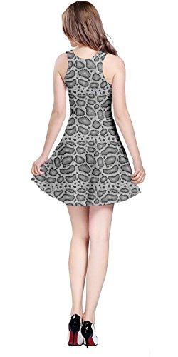 Leather Scales Giraffe Dress Python Crocodile Womens Zebra Sleeveless Gray Animal Snake Leopard 5XL XS Skin Tiger CowCow CSpx8z
