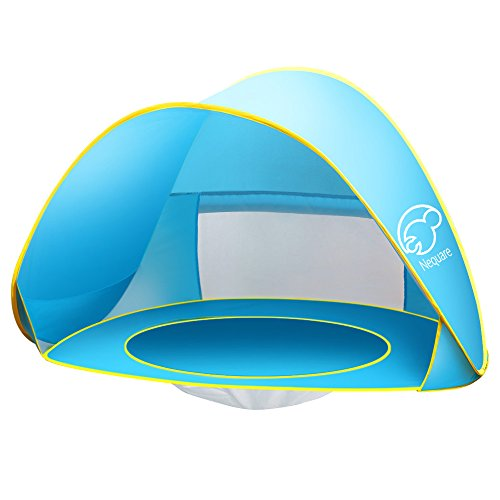 Baby Beach Tent Nequare Pop Up Tent Baby Beach Pool Sun Shelter UV Protection Beach Shade for Baby and Family(blue)