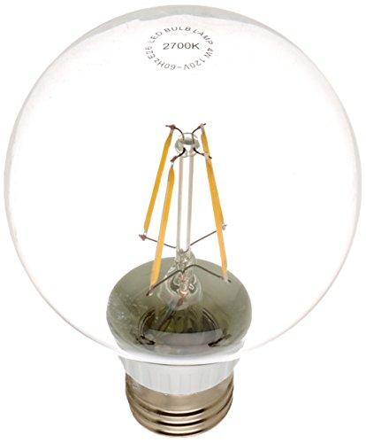 A19 Led Filament Bulb Nostalgic Edison Style 4w To Replace: LED2020 LED Vintage Filament Bulb, G25 Globe Edison Style