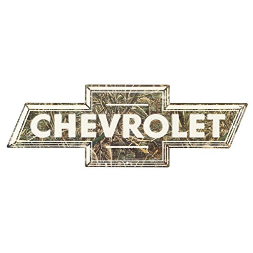 Open Road Brands Chevy Camo Bowtie Embossed Tin Sign