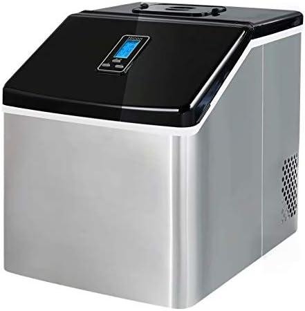 製氷機•製氷機•150 W•3.3リットルタンク•完全に味のないプラスチックライニング•ポンプシステム•取り外し可能な部品で簡単に洗浄•ステンレス鋼
