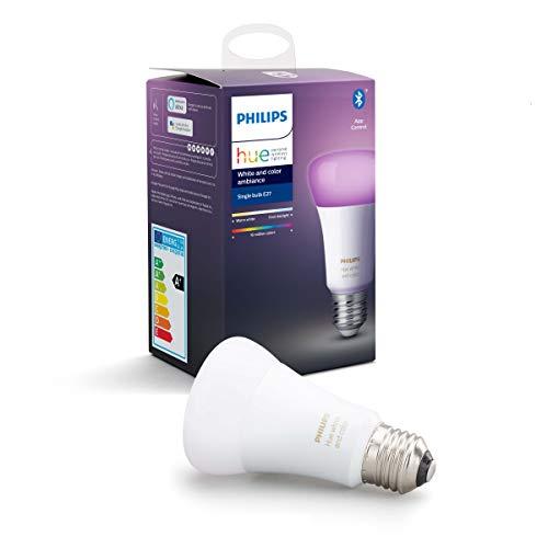 Philips Hue Standaard Lamp 1-Pack – E27 – Duurzame LED Verlichting – Wit en Gekleurd Licht – Dimbaar – Verbind met…