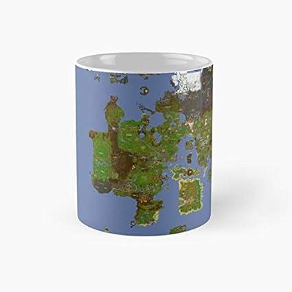 Amazon.com | OldSchool Runescape World Map Mug, osrs Funny Mugs, 11 ...
