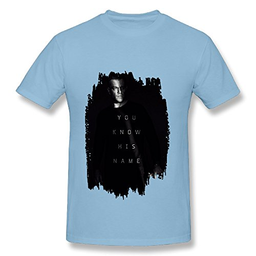 Bourne 5 Jason Bourne Action Spy Thriller Film SkyBlue T Shirt For Men