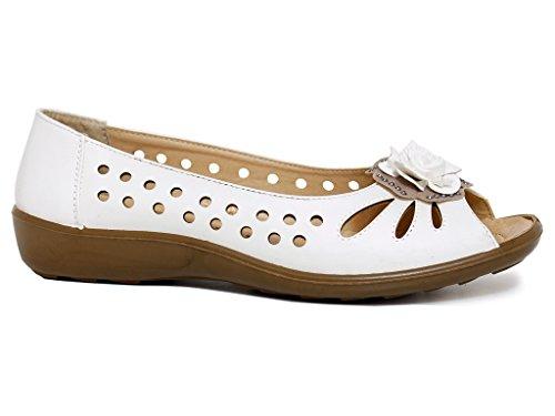 London S2 Envy Ballet White Bianco donna dZxXwqx7
