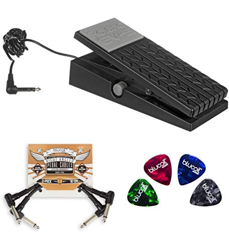 Roland EV-5 Expression Pedal Bundle with 2-Pack of Blucoil Pedal Patch Cables and 4 Guitar ()