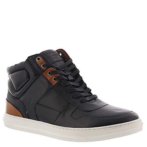 Steve Madden Men's SHARPER Sneaker, Black Leather, 10.5 M US (Steve Madden Leather High Tops)