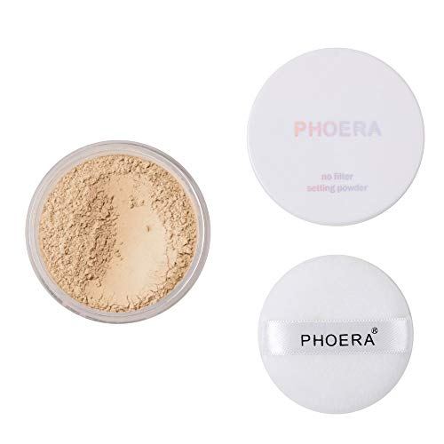 - Sacow Loose Face Powder Translucent Smooth Setting Makeup (B)