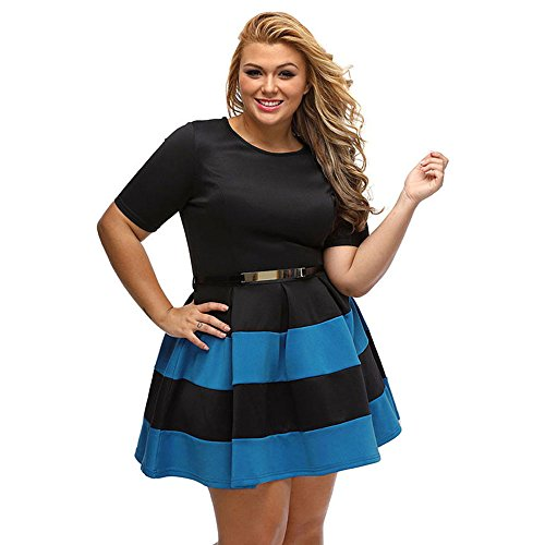 Zamp;S Fat Lady Large Size Damen Fett Schwestern Lose Midi Kleider ...