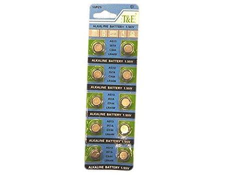 Lote de 6 - 10 x Pila Botón AG04 SR66/SR626/377 para relojes - Calidad coolminiprix®: Amazon.es: Juguetes y juegos