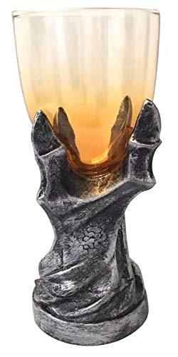 Game of Thrones Dragonclaw Goblet - 12 oz Glass Dragonclaw Chalice Replica - Gothic, Medieval Novelty GoT Wine Glass- Barware