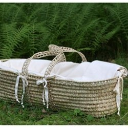 Organic Moses Basket Bumper Pad Replacement by Little Merry Fellows
