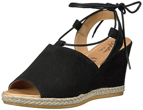 Seychelles Women's Whatnot Espadrille Wedge Sandal, Black, 8.5 M US (Shoes Womens Wedge Seychelles)