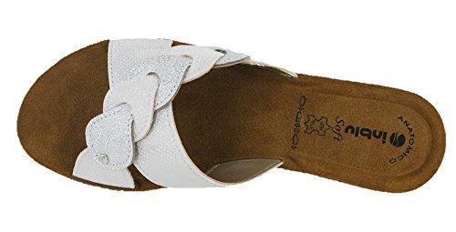 alla White Donna Caviglia Gm019 INBLU Glamour Cinturino Sandali con xn8wSSIqP6