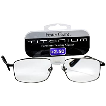 e9592aa8b2f7 Amazon.com   Foster Grant Titanium Metal Premium Reading Glasses T10 +2.50  1 Each   Beauty