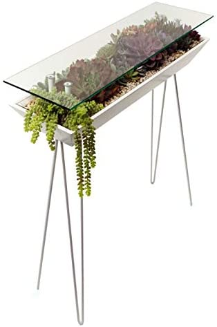 BloomingTables – Console Tables for Entryway – Sofa Table and Hallway Table, Foyer Tables for Entryway. Home Accent Furnishings with Console Table Decoration Pieces Such as Succulents and Plants