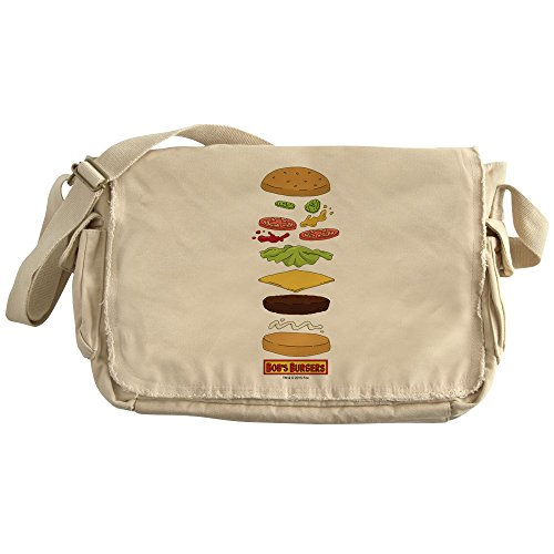 CafePress - Bob's Burgers Stacked Burger - Unique Messenger Bag, Canvas Courier Bag