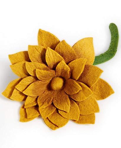 Global Goods Partners Flower Show (Gold Felt Lotus Flower)