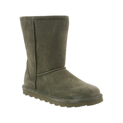 Lined 8 Women's Short Boot BEARPAW Winter Olive Sheepskin Distressed Fur Elle 0qRRvw4