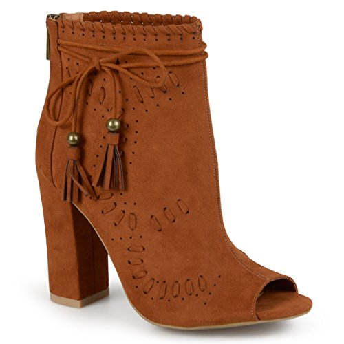 Journee Collection Womens Peep Toe High Heel Boots