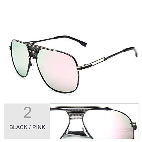 atrás Black por sol Gafas hombre Sunglasses de gafas el negro de UV400 aviador TL Pink azul piloto sol Vintage BqxTXYRw