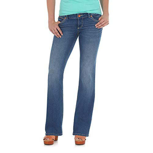 (Wrangler Women's Retro Sadie Low Rise Stretch Boot Cut Jean, Morgan, 0W x 34L)