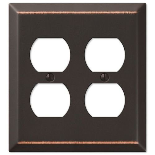 Oil Rubbed Bronze Wall Switch Plate Outlet Cover Toggle Rocker GFI Duplex Outlet - Power Outilet - Duplex Double