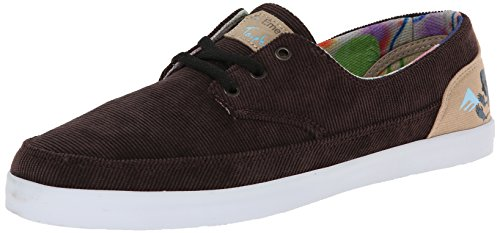 Emerica Men's Troubadour Low X ED Templeton Skateboard Shoe, Brown/Tan, 6 M US - Reynolds Skateboard Shoe