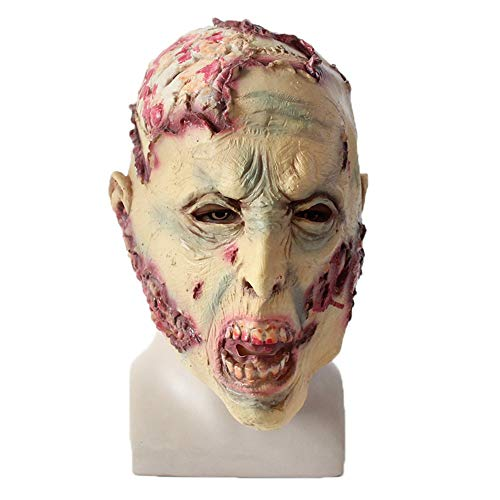SANNYSIS Halloween Cosplay Scary Mask Costume for Adults Party Decoration Props Creepy -