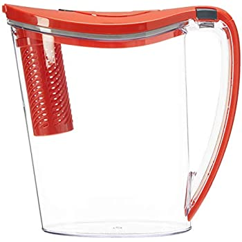 Brita 36218 Stream Filter as You Pour Pitchers, RED