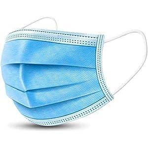Lot de 60 protections jetables à trois couches pour protéger la bouche, filtrer le visage, prévenir la poussière de…