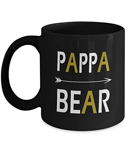 Gift Ideas Dad   Pappa Bear 11Oz Black Funny Ceramic Mugs   Birthday  Christmas  Fathers Day Gifts For Dad  Grandpa   Perfect Gift By Happy Gift