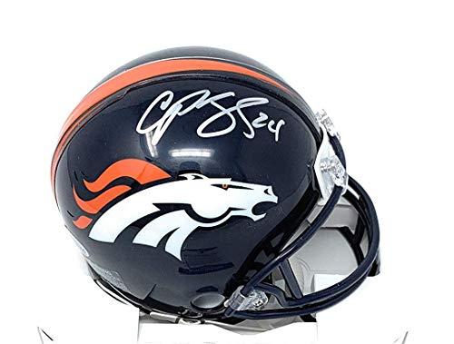 Champ Bailey Denver Broncos Signed Autograph Mini Helmet JSA Witnessed Certified