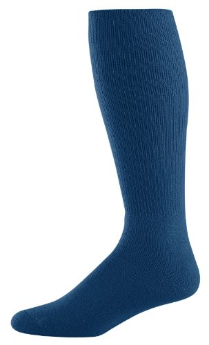 Athletic Socks - Youth Size 7-9, Color: Navy, Size: 7 - 9 by Augusta Sportswear