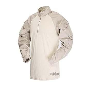 Tru-Spec 65/35 Polyester/Cotton Rip-Stop 1/4 Zip Tactical Response Combat Shirt Khaki/Sand X-Small