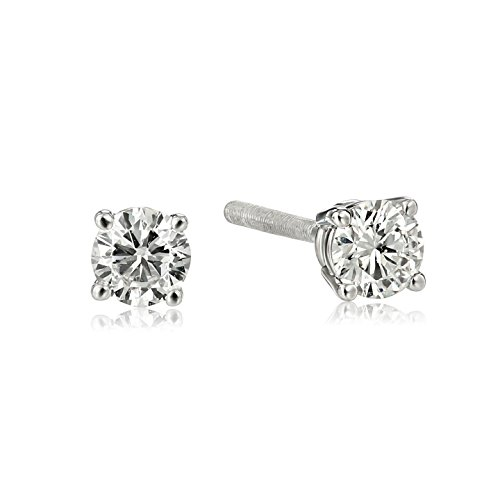 IGI Certified Gold Round Cut Diamond Earrings