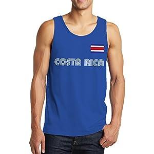 SpiritForged Apparel Costa Rica Soccer Jersey Men's Tank Top, Royal Medium